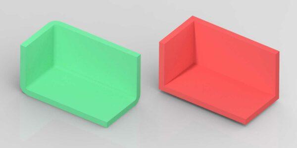 Kunststof product ontwerpen met afrondingen